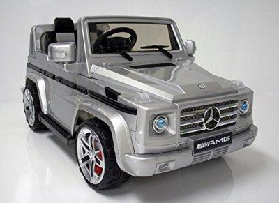 Mercedes-Benz-SUV-G55-AMG-Kids-12v-Dual-Engine-Electric-Ride-on-w-Remote-Control-Silver