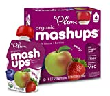 Plum Kids Organic Fruit Mashups, Mixed Berry, 3.17 Ounce, 4 Count (Pack of 6) (Packaging May Vary)