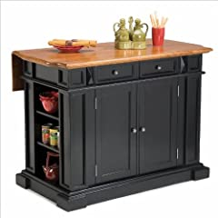 Home Styles 5003-94 Kitchen Island, Black and Distressed Oak Finish
