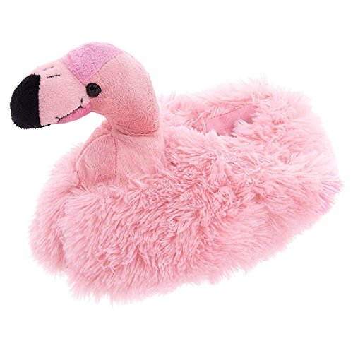 Wishpets Adults Medium Pink Flamingo Slippers