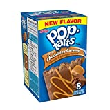 Kellogg's, Pop-Tarts, Frosted Chocolatey Caramel Toaster Pastries, 8 Count, 14.1oz Box (Pack of 3)
