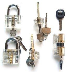 Looching-Crystal-5-Pieces-Padlock-Set-with-Cutaway-Practice-Padlock-Style-1