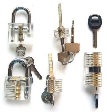 Looching-Crystal-5-Pieces-Padlock-Set-with-Cutaway-Practice-Padlock-Style-1