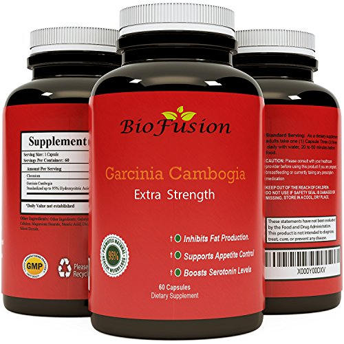 MOST ADVANCED HCA EXTRACT - Fast acting Pure Garcinia Cambogia weight loss pills - Strong appetite suppressant - Potent Premium Capsules - Best Belly Fat Absorber - 60 Capsules - Biofusion