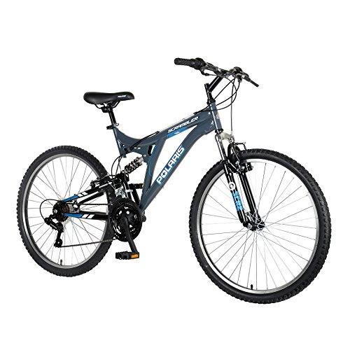 Polaris Scrambler Full Suspension Mountain Bike, 26 inch