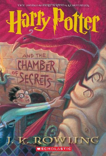 The cover of J. K. Rowling's Harry Potter and the Chamber of Secrets