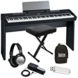 Roland FP-7F Black Digital Piano HOME BUNDLE w/ Stand, Bench & Pedal