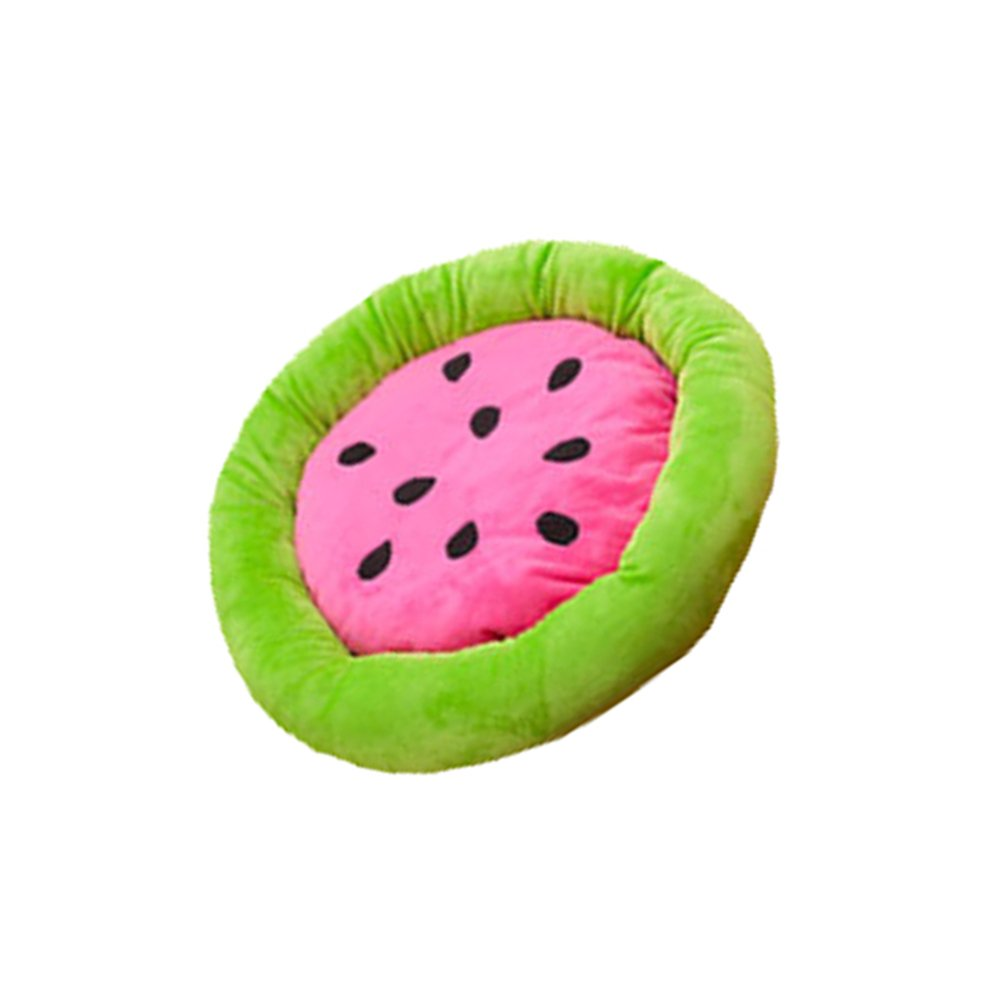 Soft Colored Fruits Style Round Shaped Pet Bed Dog Mat Bed Kennel