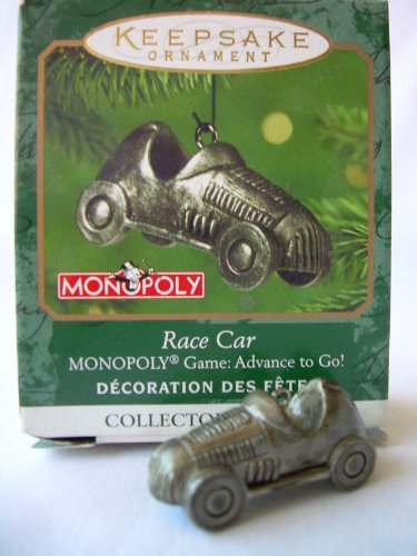 monopoly racing car ornament