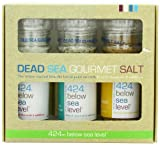 Salt 424 Three Grinder Pack 100% Organic Salts, Diamond, Garlic with Pepper and Smoked, 25.11 Ounce
