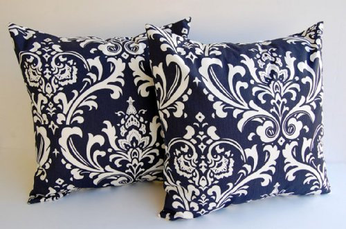throw pillow covers set of two 20 x 20 navy blue and white pillow covers cushion covers couch cushions cfewtfghdfsf