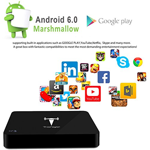 [Con Mini tastiera senza fili] SEGURO® X3 Android 6.0 TV BOX Fully Loaded Kodi 16.1 Amlogic S905X Quad Core Kodi BOX Google Streaming Media Player 100M LAN 1GB/8GB 4K Iptv Set Top Box 2.4GHz WiFi HDMI DLNA KODI Pre-installed Precaricato per Intrattenimento Domestico