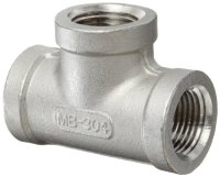 Stainless Steel 304 Cast Pipe Fitting, Tee, Class 150, 1/4