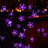 Innoo Tech 50 Led Solar String Lights Outdoor Fairy Purple ...