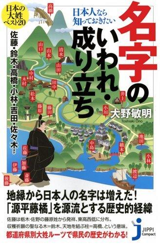 日本人なら知っておきたい名字のいわれ・成り立ち (じっぴコンパクト新書)