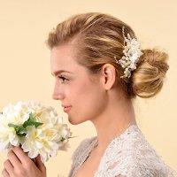 Remedios Bridal Flower Side Hair Comb Wedding Accessory ...