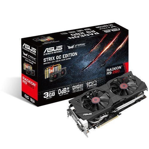 ASUSTek社製 Radeon R9 280搭載 ビデオカード (オーバークロックタイプ) STRIX-R9280-OC-3GD5