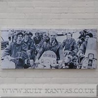 Quadrophenia Scooters Wall Art Canvas Picture 120cm x 50cm ...