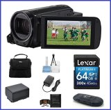 Canon-VIXIA-HF-R72-Full-HD-Camcorder-Bundle-includes-64GB-SDXC-Memory-Card-Card-Reader-Spare-Battery-and-more