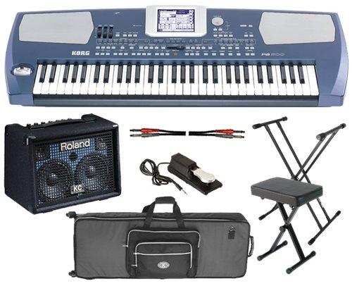 Korg Pa500 Arranger STAGE BUNDLE w/ Keyboard Amp, Case, Stand & Bench