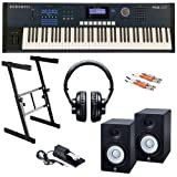 Kurzweil PC3LE7 Keyboard STUDIO BUNDLE w/ Monitor Speakers & Stand