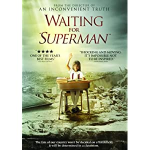 Waiting for superman, waiting for superman dvd cover, Education, teacher, teaching, teach, student, students, blackboard, chalk, classroom, class