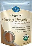 Viva Labs Organic Cacao Powder: Raw and Non-GMO 1 lb Bag
