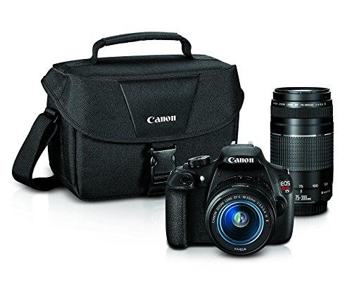 Canon EOS Rebel T5 Digital SLR Camera with EF-S 18-55mm IS II + EF 75-300mm f/4-5.6 III Bundle