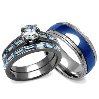 His and Hers Wedding Rings Set - Women's 3.24 Carats ...
