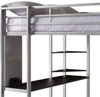 Dorel Home Products Abode Full Size Loft Bed, Silver ...