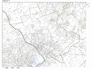 Amazon.com: Mercer County, New Jersey NJ ZIP Code Map Not
