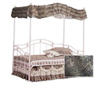 Canopy Bedroom Set: Cheetah Leopard Print Sweetheart