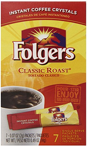 Folgers Instant Coffee Crystals Classic Roast Single Serve