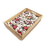 Amazon.com | Vintage Floral Decorative Wooden Tray Home ...