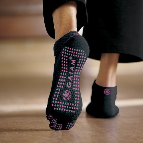 Gaiam All Grip Yoga Socks Pink Dots