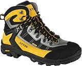 Original LYTOS mittelhoher Wanderschuhe Bergschuhe Sportschuhe mit Vibram Sohle und HYDOR TEX COMFORT TECHNOLOGY schwarz gelb Groesse-46