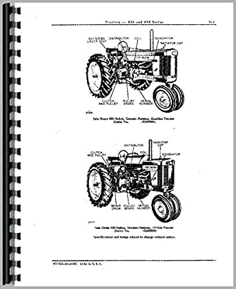 John Deere 630 Tractor Parts Manual: Amazon.com