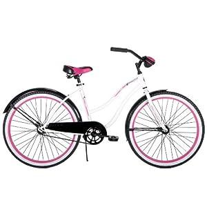 Amazon.com : Huffy Women's Karaoke AMP Bike, White, 26