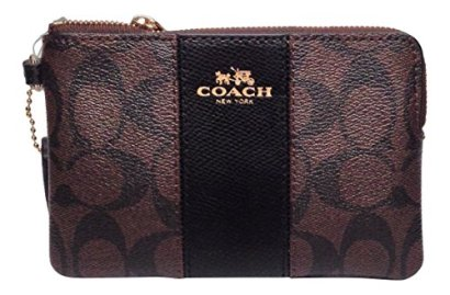 Coach-Signature-Double-Zip-Cross-Grain-Leather-Case