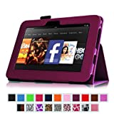 Fintie Slim Fit Leather Case Auto Sleep/Wake for Kindle Fire HD 7-Inch Tablet - 2012 Model - Purple