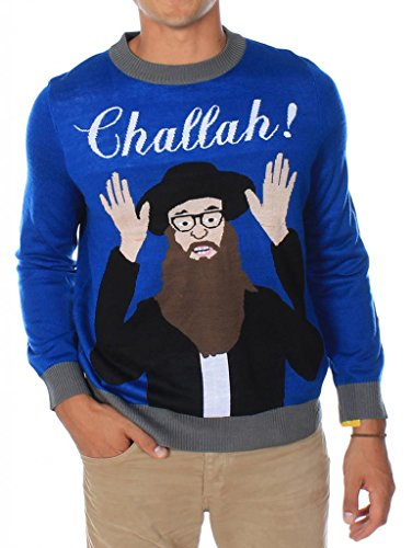 Men's Challah! Ugly Christmas Sweater Size XXL