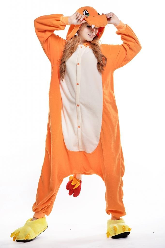 Charmander Adult Anime Pajamas Kigurumi Outfits Onesie Cosplay Costume