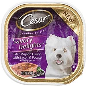 Cesar Savory Delights Filet Mignon Flavor with Bacon