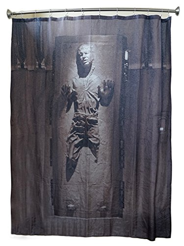 Star Wars Han Solo Shower Curtains in Carbonite Shower Curtain  eBay