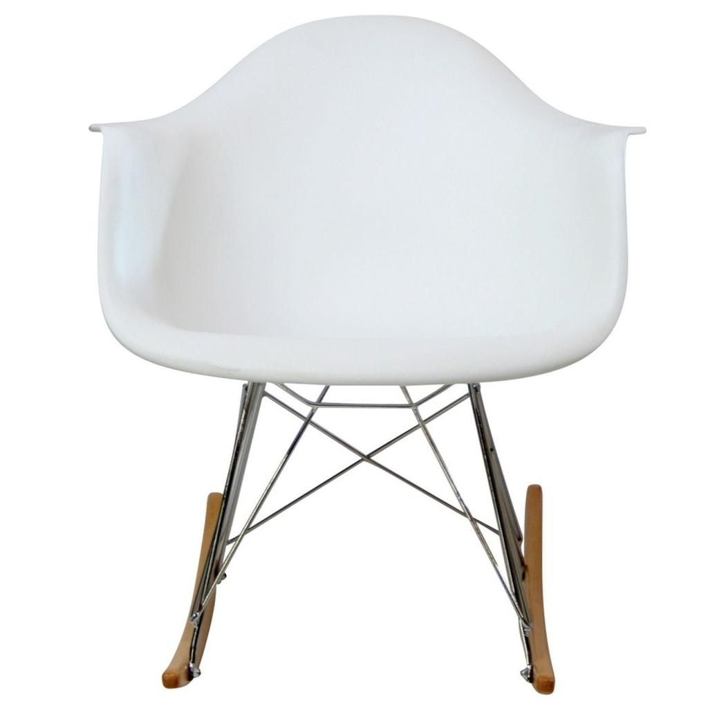Rocking Chair White Amazon Lexmod Molded Plastic Armchair Rocker In