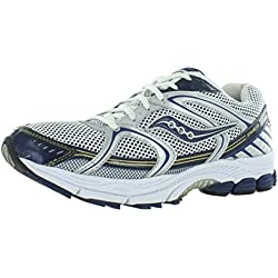Saucony Men's ProGrid Stabil CS Running Shoe,Silver/Blue,8.5 M