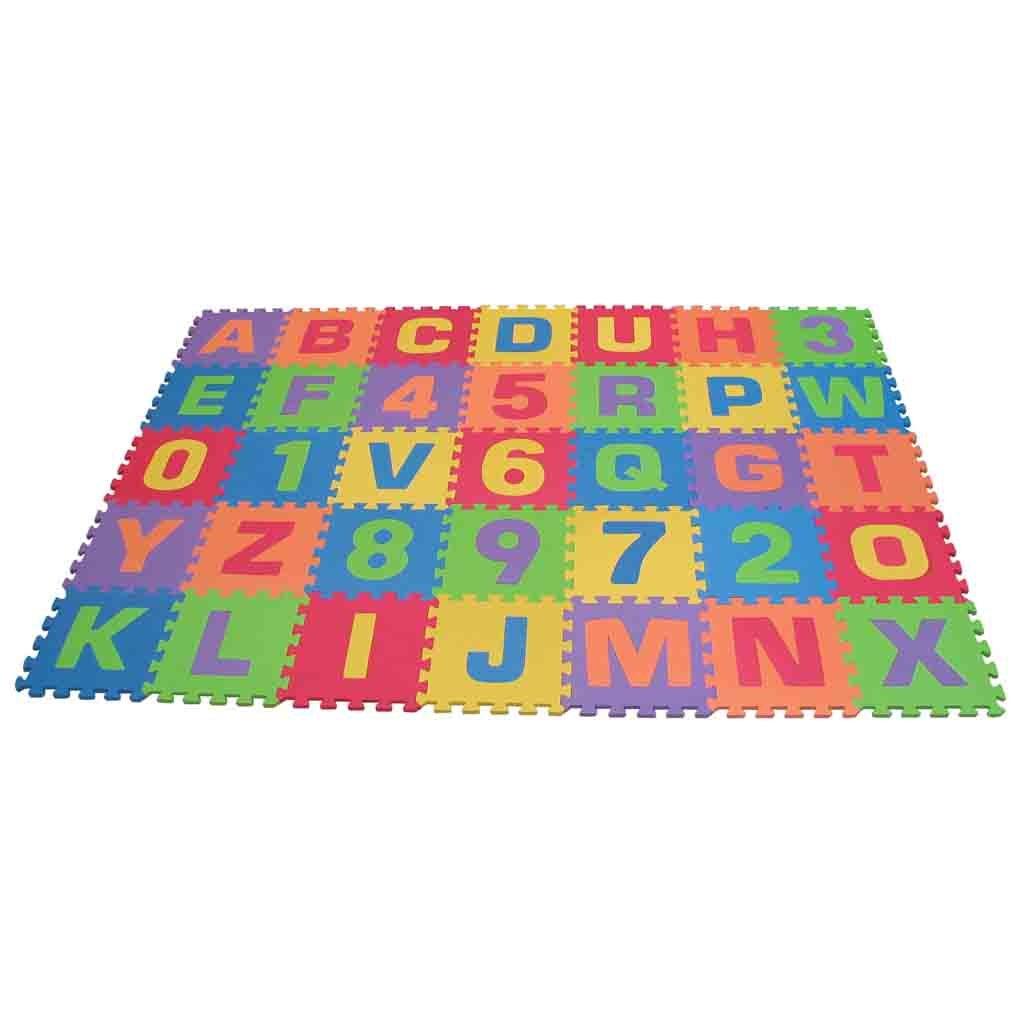 ABC Alphabet Number Fun Kids Foam Squares Floor Puzzle