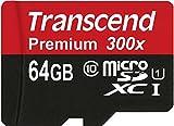 【Amazon.co.jp限定】Transcend microSDXCカード 64GB Class10 UHS-I対応 (無期限保証) TS64GUSDU1E (FFP)