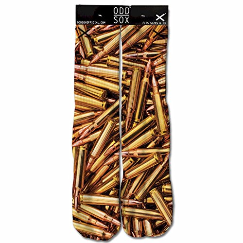 Odd Sox Bullets Copper Crew Socks Sz: 6-13