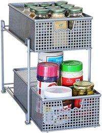 Storage Basket Organizer Sliding Drawer Kitchen Under ...